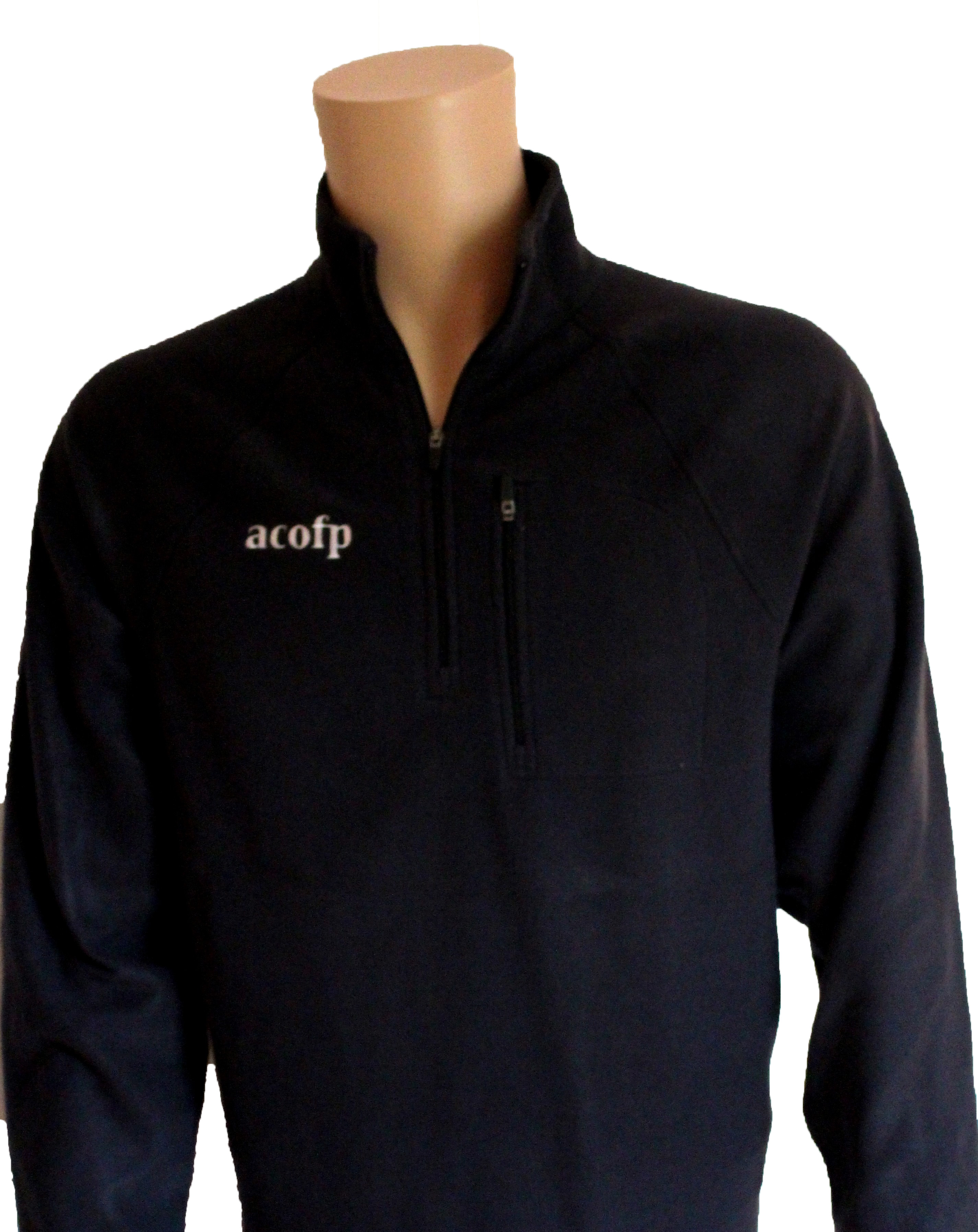 Men's Fleece Quarter Zip Black (3XL)